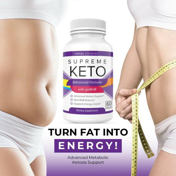 Supreme Keto Diet Pills Advanced Weight Loss BHB Ketones Fat Burner Ultra Boost 3