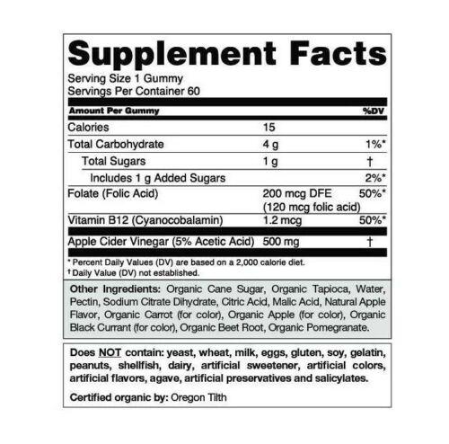 Goli Nutrition Apple Cider Vinegar Gummies Supplement, 60 Pieces, Exp 2022 6