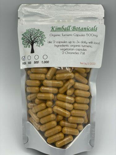 Organic Turmeric Curcumin 500mg Vegetarian Capsules Anti Inflammatory