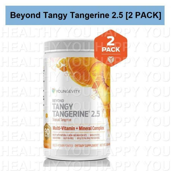 Beyond Tangy Tangerine 2.5 [2 PACK] Youngevity New & Improved Twin