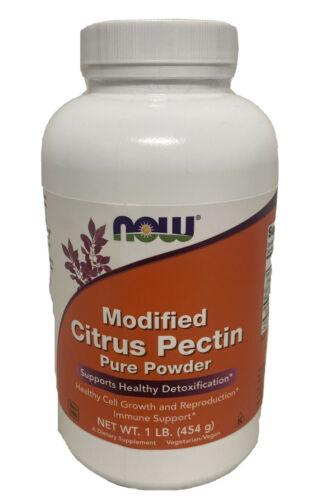 Now Foods Modified Citrus Pectin Pure Powder 1 lb (454 g) EXP 09/2021