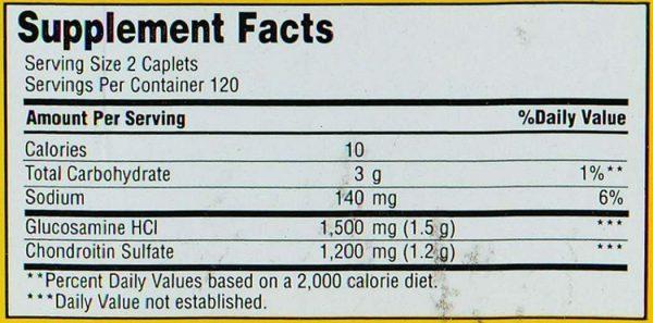 Glucosamine Chondroitin Triple Strength 240 Caplets (Joint Health)  3