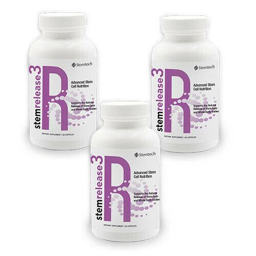 Stemtech Stemrelease3 Advanced Stem Cell Nutrition Supplement - Pack of 3 Bottle