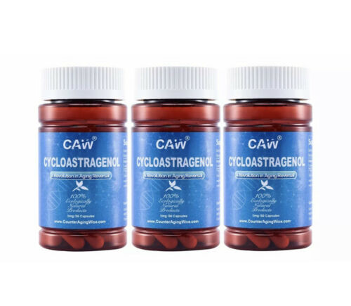 CAW  Anti-aging Hypersorption Cycloastragenol | 5 Mg 30 Capsules 3 bottles 1