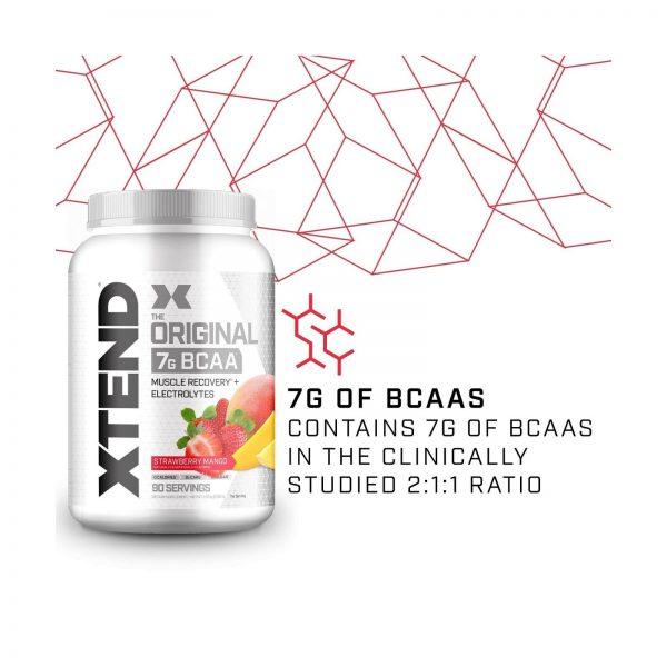 XTEND Original BCAA Powder Strawberry Mango   Sugar Free Post Workout Muscle ... 2