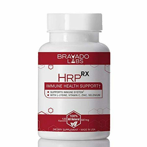 Premium Herpes Treatment Supplement - HrpRX - with L-Lysine, Vitamin C and Zinc