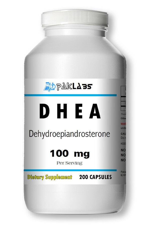 DHEA High Potency 100mg 200 Capsules HUGE BOTTLE High Quality USA SHIPPING