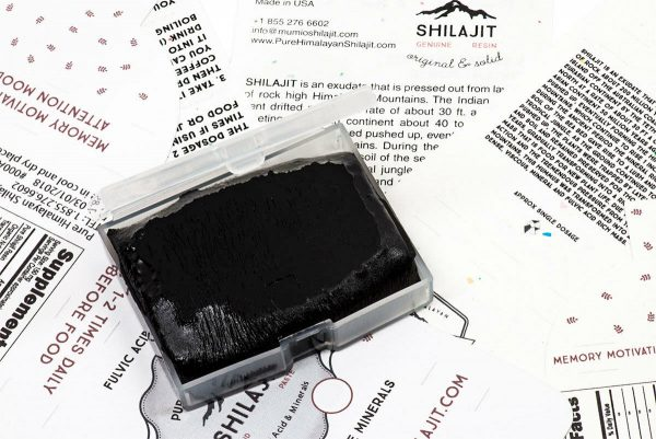 PURE HIMALAYAN SHILAJIT, ORIGINAL SOLID PASTE FROM NEPAL, COLD TREATED RESIN 9