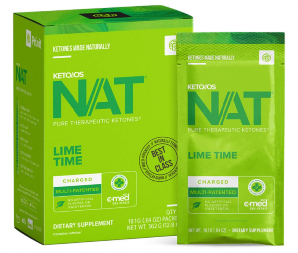 Pruvit NAT KETO//OS Lime Time Charged 20 Packets New Box Sealed Exp: 05/2022