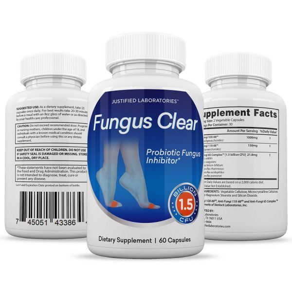 Fungus Clear Premium Probiotic 1.5 Billion CFU Improves Toe Nail Health 5 Pack 5