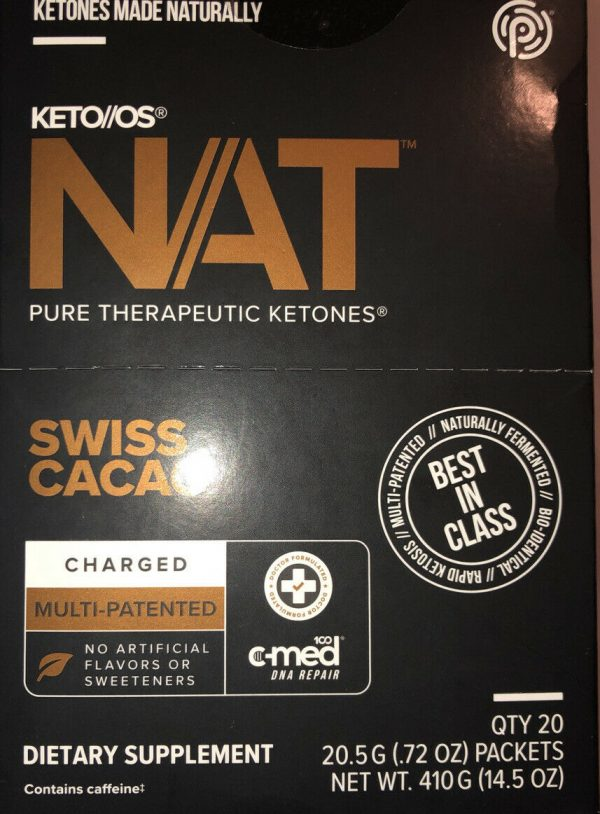 Keto Os Nat Swiss Cacao Charged 20 Servings Ketones Diet Weight Pruvit Exp 7/22 2