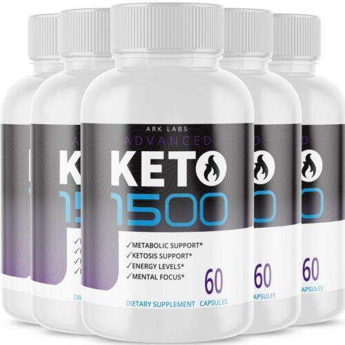 (5 Pack) Advanced Keto 1500 Weight Loss Diet Pills goBHB Ketogenic Supplement