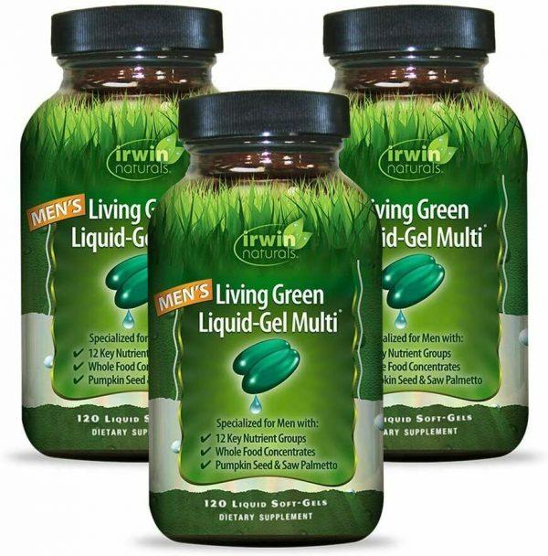 Irwin Naturals Men's Living Green Liquid-Gel Multi - 70 Essential Nutrients, -
