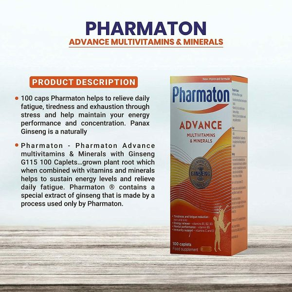 3 (THREE) PACK PHARMATON ADVANCE 100 Caplets (containing Unique Ginseng G115) 2