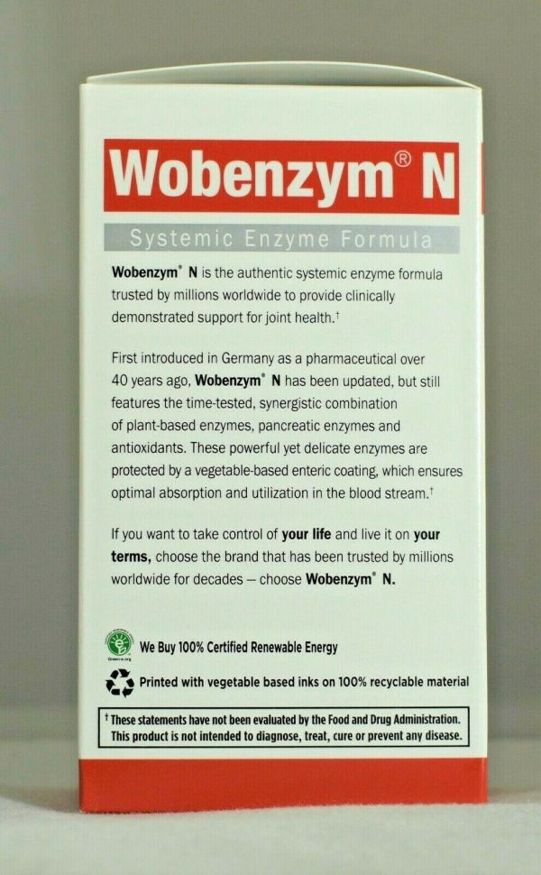 Wobenzym N 400 Garden of Life Inflammation Arthritis Joint Support  3