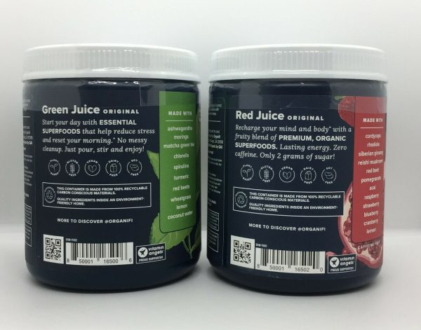 Organifi Green Juice and Red Juice Combo Pack Superfood Supplement Super Food  1