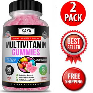 (2 Pack) Multi Vitamin Gummy, 60 Count, Vitamin A, C & E, Zinc & Vitamin B-12