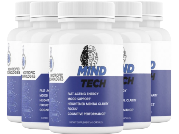 5 Bottles - Mind Tech Nootropic Mindtech Brain Booster Focus Supplement 300Caps
