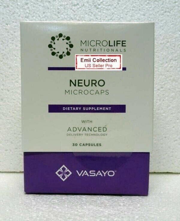 Vasayo MicroLife Neuro Brain Natural Supplements Liposomes 30 Capsules Exp 10/21