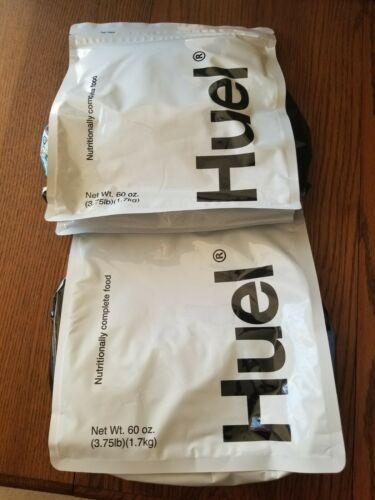 2-HUEL Chocolate Nutritianally Complete Food Powder 100% Vegan Food. Exp.07-2021