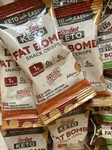 80 SlimFast Keto Meal Bars & Fat Bomb Snacks, Chocolate, Mint, Cheese Read Desc 1