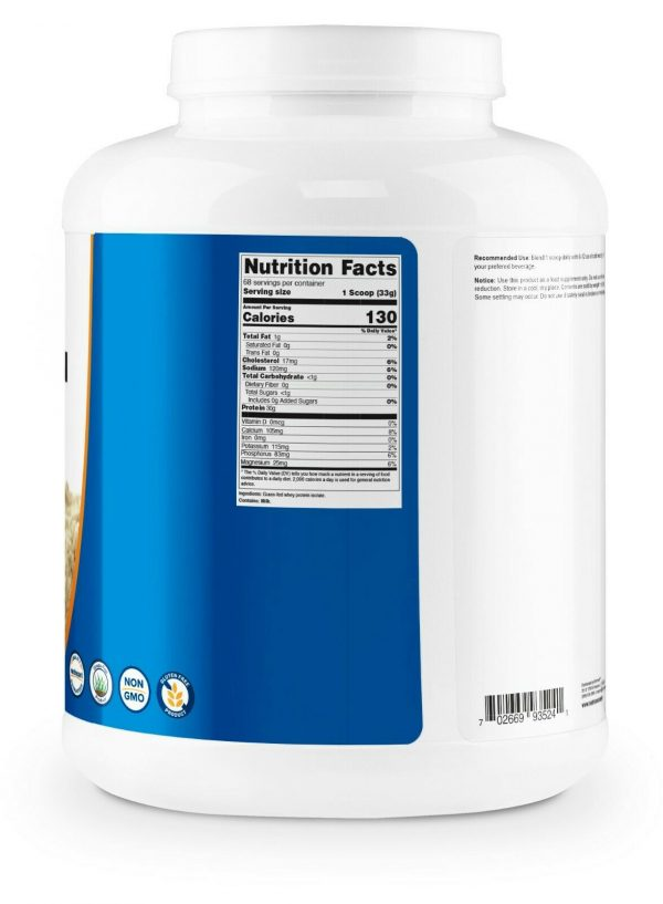 Nutricost Grass-Fed Whey Protein Isolate (Unflavored) 5LBS  3