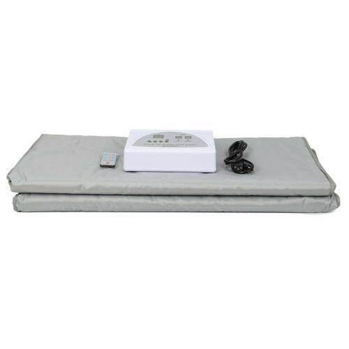 Digital 2 Zone Far Infrared FIR Sauna Slimming Blanket Weight Lose Spa Detox 7