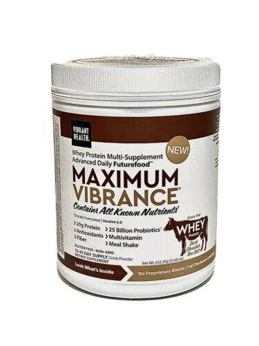 3 Jars Vibrant Health •Maximum Vibrance 6.0• Dark Chocolate w/Sea Salt• 21.60oz 1