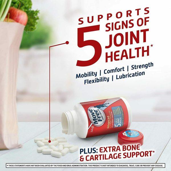 Move Free Vitamin D3, MSM, Glucosamine And Chondroitin - Advanced Tablets (120 4