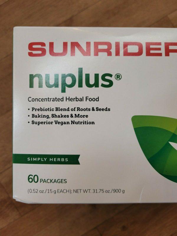 SUNRIDER NUPLUS SIMPLY HERBS  60 pack 1