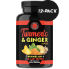 Turmeric Ginger Pills Natural Anti Inflammatory (12-Pack) Joint Support