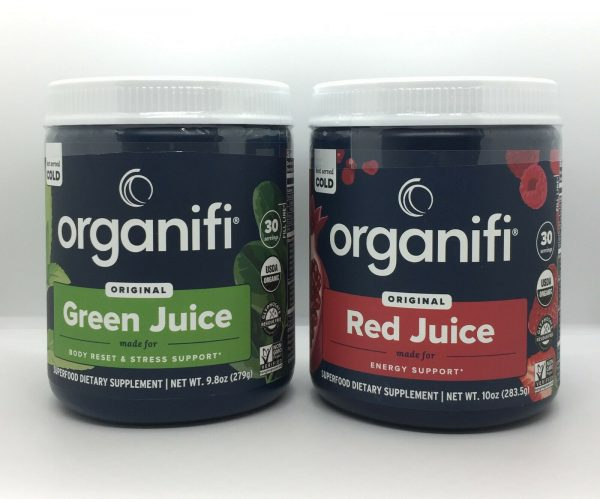 Organifi Green Juice and Red Juice Combo Pack Superfood Supplement Super Food