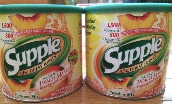 NEW 48 DAYS (2 CANS) Supple Peach Mango Powder Mix Supplement Joint Relief  2