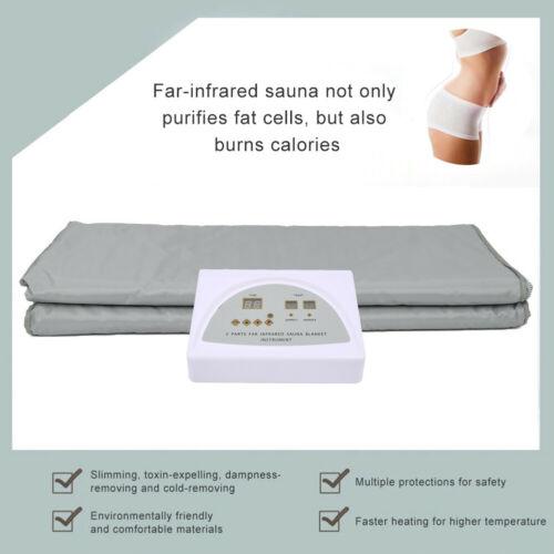 Digital 2 Zone Far Infrared FIR Sauna Slimming Blanket Weight Lose Spa Detox 1