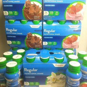 ×52) Walgreens Regular Nutrition Shake ~Compared To Ensure ~3 Flavers ~Exp. 7/21