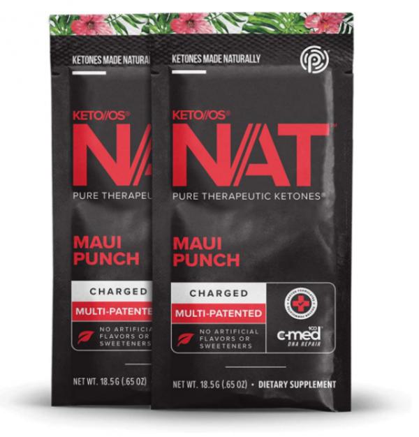 Pruvit NAT KETO//OS Maui Punch Charged 20 Packets New Box Sealed Exp: 09/2022 2