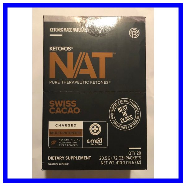 Keto Os Nat Swiss Cacao Charged 20 Servings Ketones Diet Weight Pruvit Exp 7/22