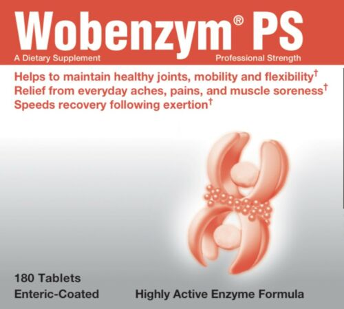 Wobenzym PS 180 Tablets Professional Strength Douglas Laboratories Enzymes 09/22