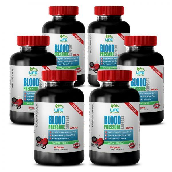 Blood Pressure Support. Cardiovascular Health (6 Bottles)