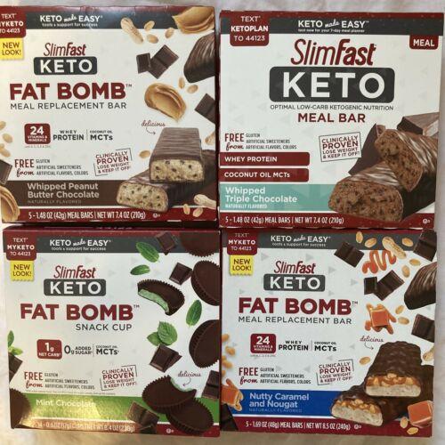 80 SlimFast Keto Meal Bars & Fat Bomb Snacks, Chocolate, Mint, Cheese Read Desc 4