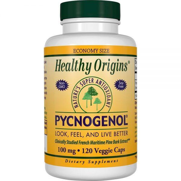 Healthy Origins PYCNOGENOL 100mg, 120 vcaps Pine Bark Extract VALUE SIZE