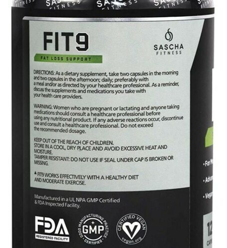 FIT9 Sascha Fitness 💥 Fat Loss Support Weight Loss Aid Fat Burner Hormonal Aid 2