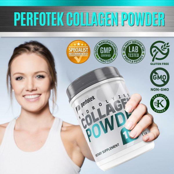 Collagen Powder Premium Peptides Hydrolyzed Anti-Aging Organic Protein 4x 1LB 4