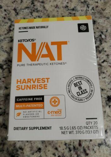 Pruvit Keto OS NAT Harvest Sunrise Caffeine Free unopened