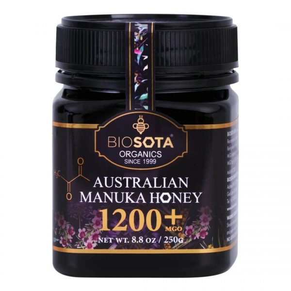 Biosota Organics-Manuka Honey MGO 1200+ 250g (Last Chance)
