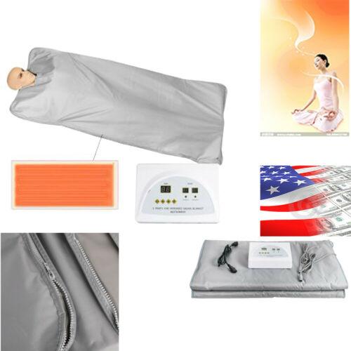 Sauna Far Infrared Thermal Body Slimming Heating therapy Slim Bag  Blanket USA 2