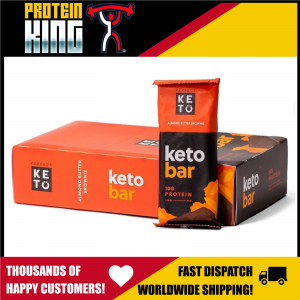 PERFECT KETO 12 x 45G ALMOND BUTTER BROWNIE BARS DELICIOUS PROTEIN SNACK FOOD
