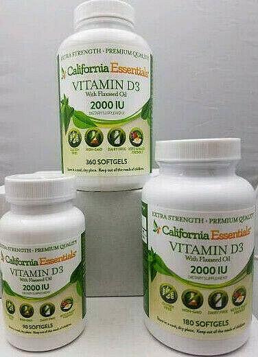 BOOST IMMUNITY & BONE HEALTH-VITAMIN D3 2,000iu SOFTGEL IN FLAXSEED OIL