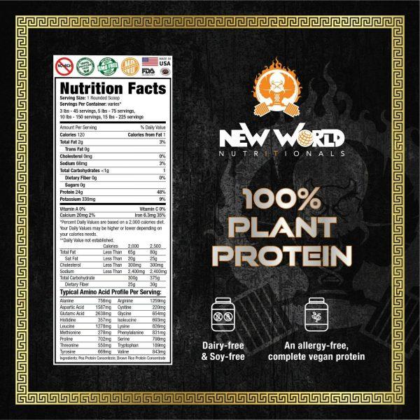 15lb Bulk Vegan Dairy Free Rice & Pea Plant Protein Powder