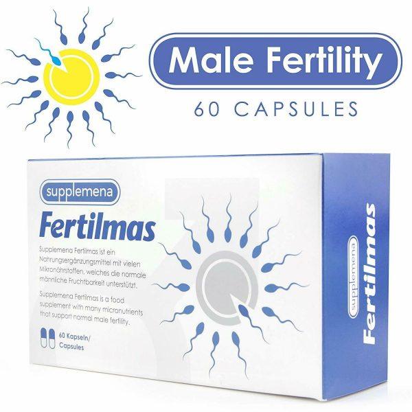 Supplemena Fertilmas Male Fertility Supplement - 2 Month Supply - 2x 60 Capsules 2